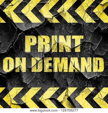print on demand, black and yellow rough hazard stripes