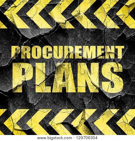 procurement plans, black and yellow rough hazard stripes