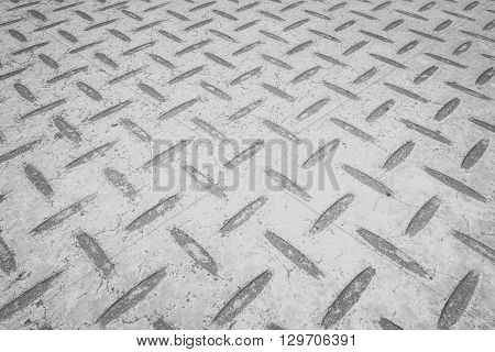 White metal floor plate texture and backgroun seamless
