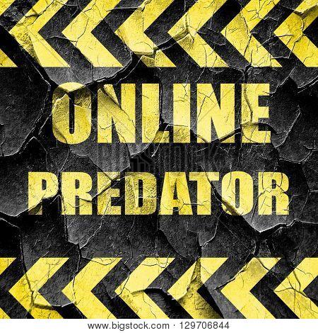 online predator background, black and yellow rough hazard stripe