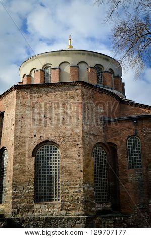 Istanbul Turkey Topkapi Palace, Hagia Eirene church garden