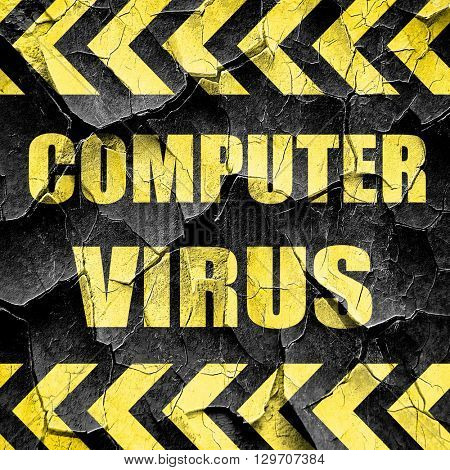 Virus removal background, black and yellow rough hazard stripes