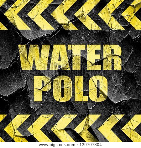 water polo sign background, black and yellow rough hazard stripe