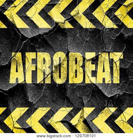 afrobeat music, black and yellow rough hazard stripes