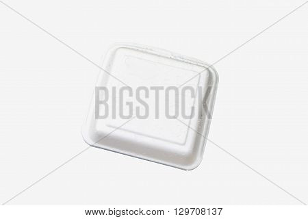 one foam box in white background isolated