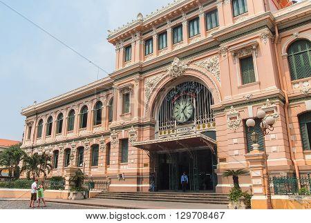 Ho Chi Minh City Vietnam - March 7 2013 : Saigon Central Post Office