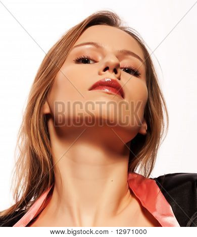 Arrogant Young Woman Looking Down On You
