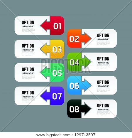 Modern infographics design options banner. Vector illustration. can be used for workflow layout diagram number options graphic or website layout vector