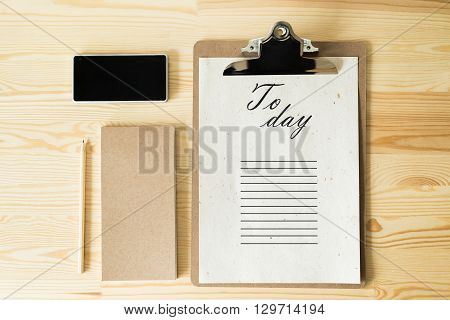 To do list today a business project concept