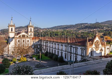 S. Bento monastery in Santo Tirso, Portugal. Benedictine order. Built in the Gothic (cloister) and Baroque (church) style.