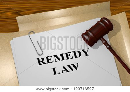 Remedy Law Legal Concept