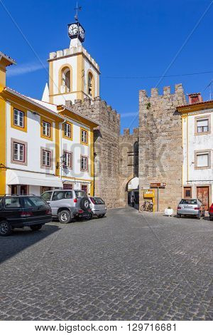 The Town Gate (Porta da Vila) of Nisa. Nisa, Portugal.