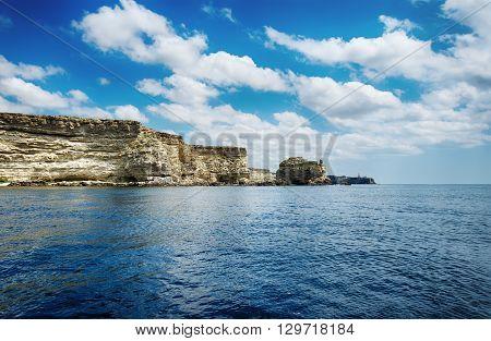 seascape beautiful views of the rocky cliffs to the sea Tarhankut Crimea