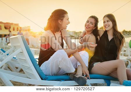 Friends at the beach
