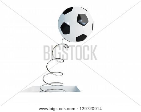 spring soccer ball 3d Illustrations on a white background