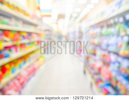 Blurred Of Kids Toy Store Background