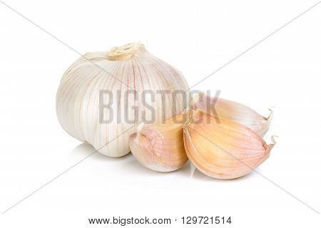 Garlic Isolated On The White Background