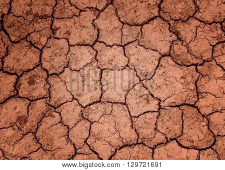 Ground parched dry land Background patterned ground dry.