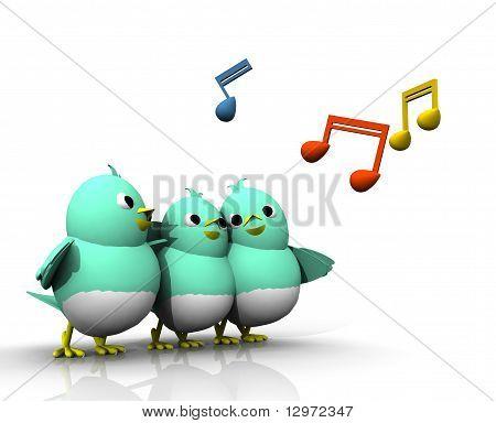 3D Bird Sing