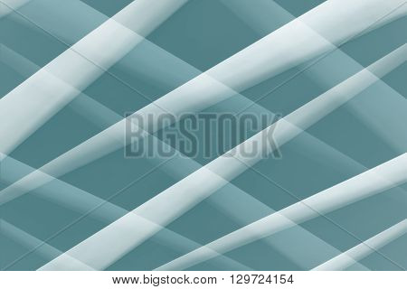 Abstract  architectural pattern. White crossed stripes on blue background