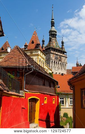 Sighisoara - Old city and the famous clock tower