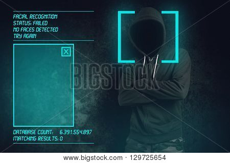 Facial recognition failed at biometric verification hooded criminal hacked software and managed to stay unrecognized.