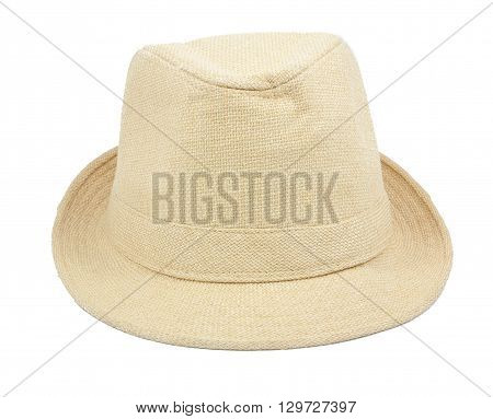 q brown hat isolated on a white