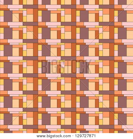 Squares pattern in abstract style. Nice colourfull tiles. Seamless abstract geometric colorful vector pattern for continuous replicate.