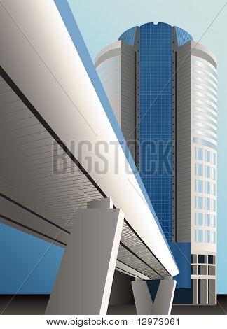vector bridge building