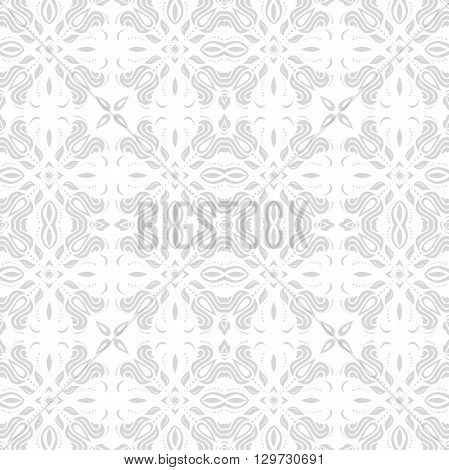 Oriental vector classic light pattern. Seamless abstract background with repeating elements