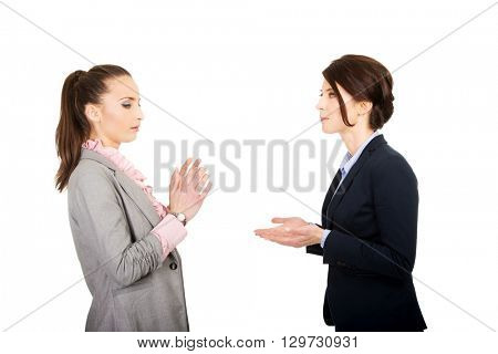 Two angry businesswomans.