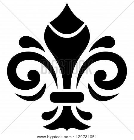 Modern vector ornament. Geometric pattern with royal lilies