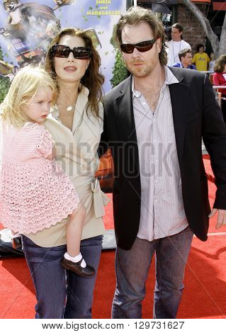 Chris Henchy, Rowan Francis Henchy and Brooke Shields at the Los Angeles premiere of 'Over The Hedge' held at the Mann Village Theatre in Westwood, USA on April 30, 2006.