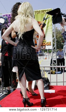 Avril Lavigne at the Los Angeles premiere of 'Over The Hedge' held at the Mann Village Theatre in Westwood, USA on April 30, 2006.