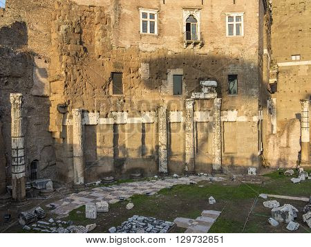 The Ruins Of Trajan's Market (mercati Di Traiano) In Rome