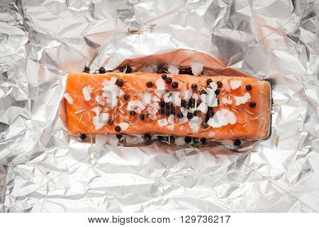 Salmon Steak Smoked Food Ingredient Rustic Still Life