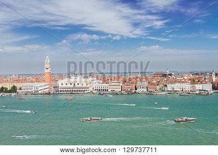 skyline of Venice - famous San Marco square waterfront, Venice, Italy
