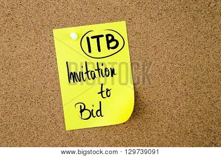 Business Acronym Itb Invitation To Bid