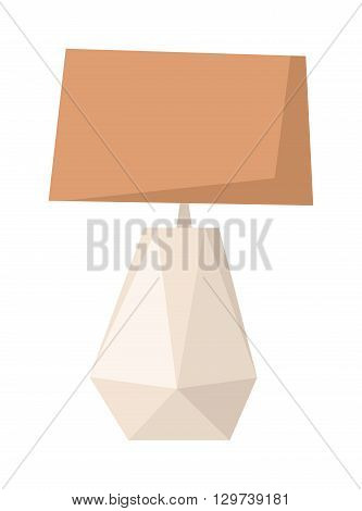 Beige floor lamp isolated over white background. Floor lamp vector and floor lamp light home. Floor lamp modern decoration interior and floor lamp electricity metal furniture style tall retro lamp.