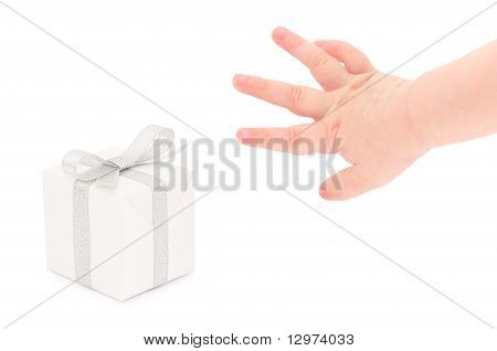 Hand Taking A Gift.