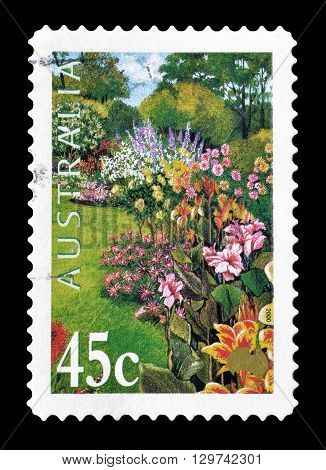 AUSTRALIA - CIRCA 2000 : Cancelled postage stamp printed by Australia, that shows Garden.