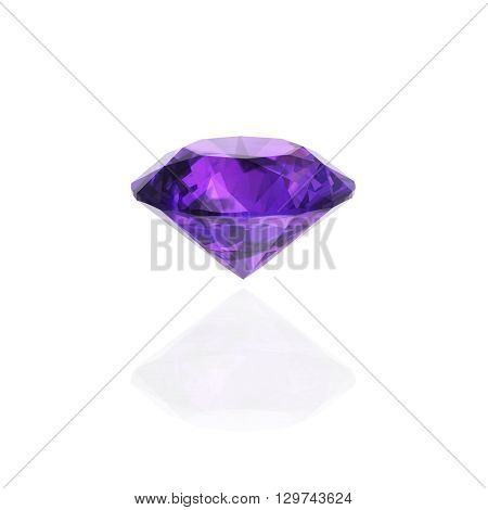 amethyst on white (high resolution 3D image) Illustrations.