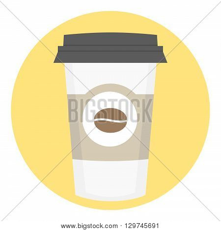 Coffee Paper Takeout Disposable Cup With Label