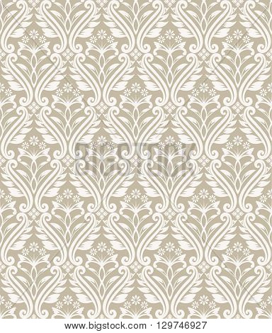 Vector seamless pattern. Luxury elegant texture of baroque style. Pattern can be used as a background wallpaper wrapper page fill element of ornate decoration