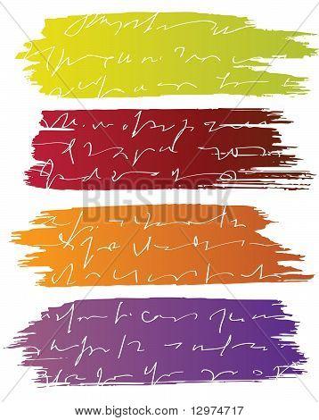 Banners de Pintura vectorial con texto de carta