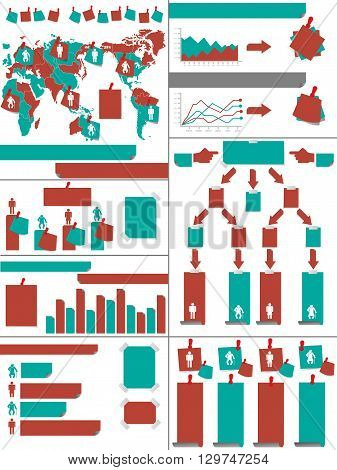 INFOGRAPHIC DEMOGRAPHICS POST IT RED for web and other