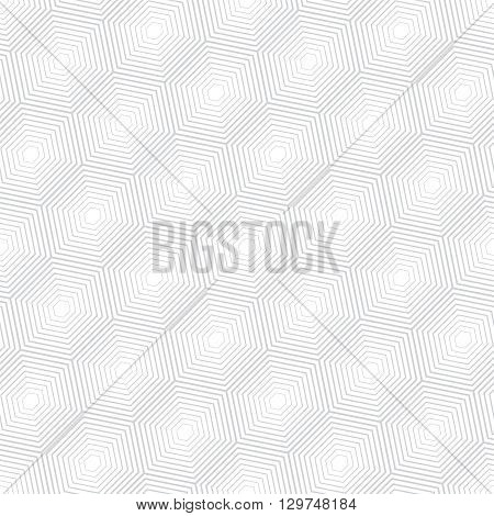 Seamless pattern. Modern stylish geometric texture with regularly repeating diagonal linear hexagons. Vector element of graphic design