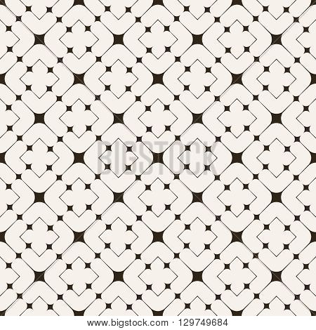 Seamless pattern. Geometrical modern stylish texture. Regularly repeating classical tiles with thin lines rhombuses and diamonds. Vector element of graphical design