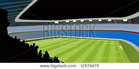 Fußball-Stadion-Vektor