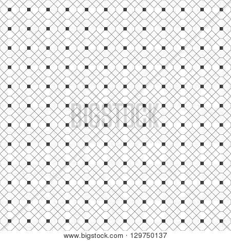 Seamless pattern. Abstract geometric background. Simple elegant texture with thin lines. Regularly repeating geometrical grid with rhombus hexagon square. Vector element of graphical design